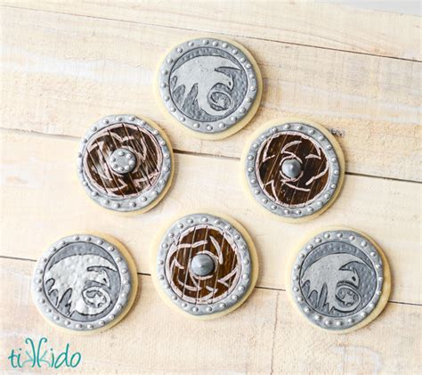 viking crafts for to make viking shield sugar cookies family crafts
