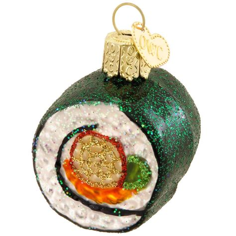 bronners ornaments sushi roll glass ornament ethnic pride