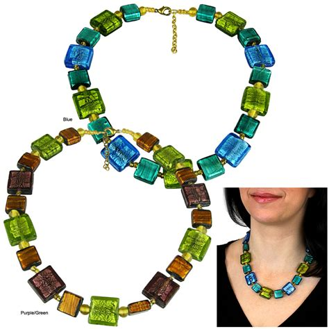 murano glass bead necklace murano style glass bead necklace the hunger site