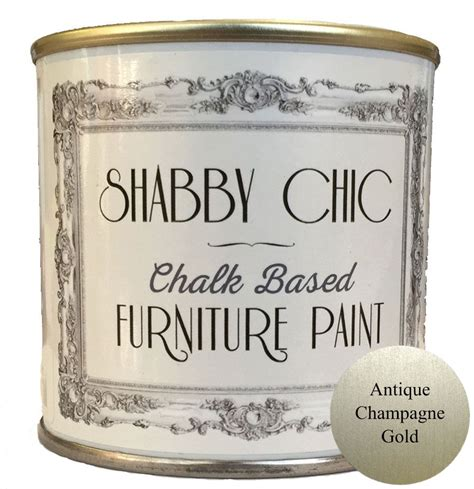 chalk paint gold antique chagne gold shabby chic furniture chalk paint 250ml