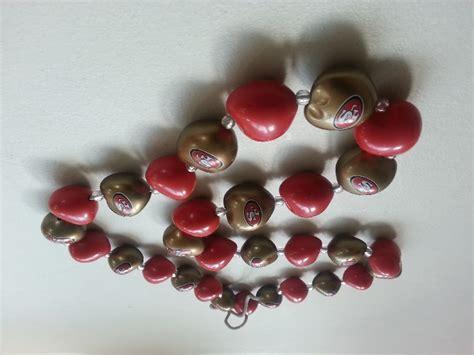 kukui nut nfl san francisco 49ers synthetic kukui nut necklace