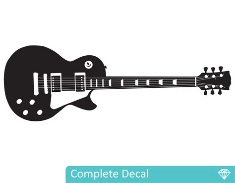 guitar wall stickers les paul guitar your decal shop nz designer wall