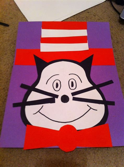 cat in the hat crafts for cat in the hat craft for preschoolers dr suess