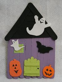 haunted house crafts for popsicle stick haunted house craft all network