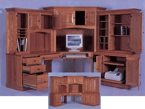 corner computer desk with hutch cabinets shelving corner computer desk with hutch how