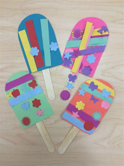 craft work for kindergarten popsicle summer craft for preschoolers kindergarten