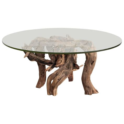 driftwood coffee tables driftwood coffee table glass top for sale at 1stdibs