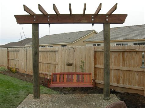 arbor swing plans free simple ideas of pergola swing plans invisibleinkradio