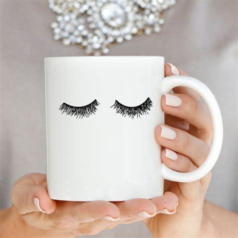 Eyelashes Coffee Mug Fashion Mug Lashes Mug by sweetwaterdecor