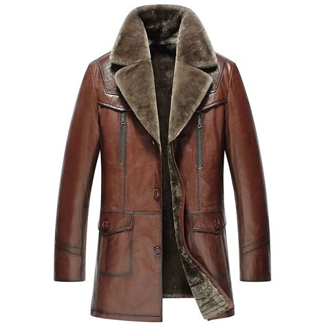 leather and shearling jacket s shearling leather coat cw858106