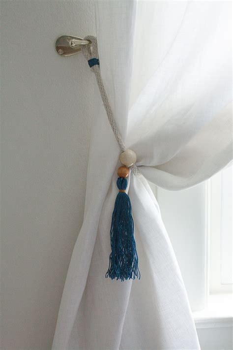 how to make curtain tie backs with jojotastic diy boho curtain tie backs with tassels