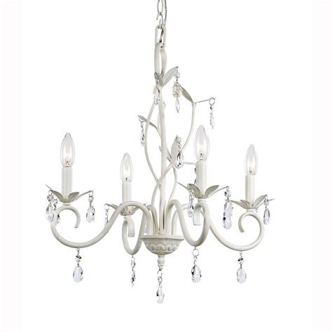 chandeliers at home hton bay 4 light white accent chandelier