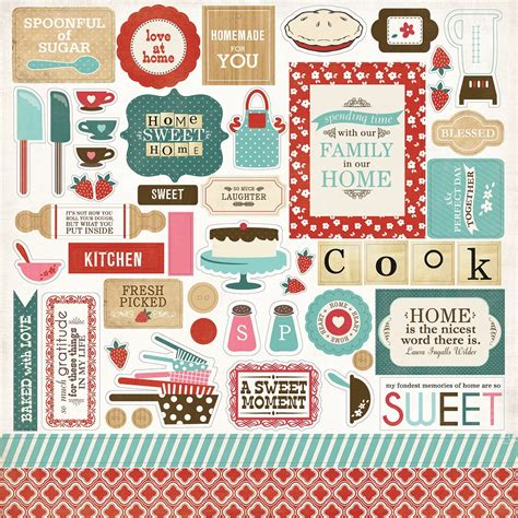 carta bella paper home sweet home elements stickers