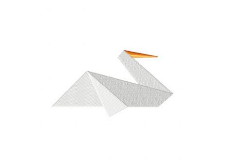 origami pelican origami pelican machine embroidery design daily embroidery