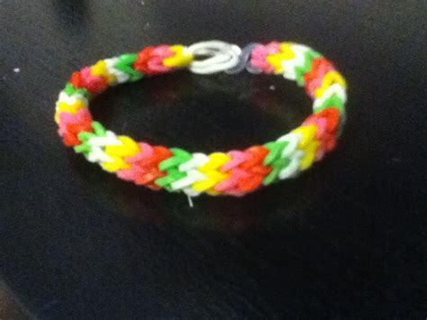 make rubber band jewelry how to make a hexafish rubber band bracelet with a fork