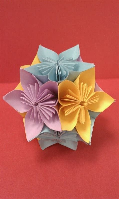 paper and craft diy how to fold an origami kusudama flower easy