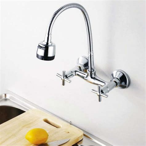 kitchen faucets wall mount picking wall mount kitchen faucet ellecrafts