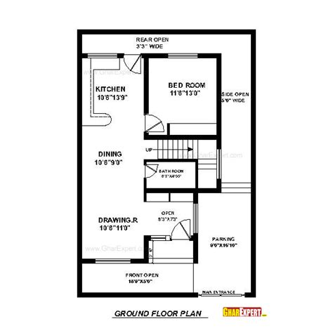 home design story room size house plan for 30 by 45 plot plot size 150