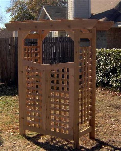 Garden Arbor With Gate Kit New Classic All Cedar Garden Arbor Pergola Arch With Gate