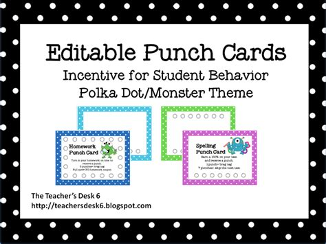 how to make a punch card 6 best images of printable punch cards for students free