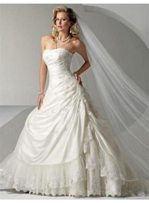 wedding dresses with beading empire a line strapless beading lace brush wedding