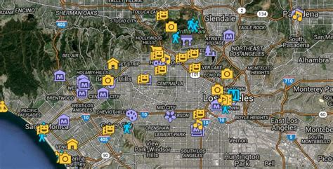 la things to do the ultimate map of free things to do in los angeles and