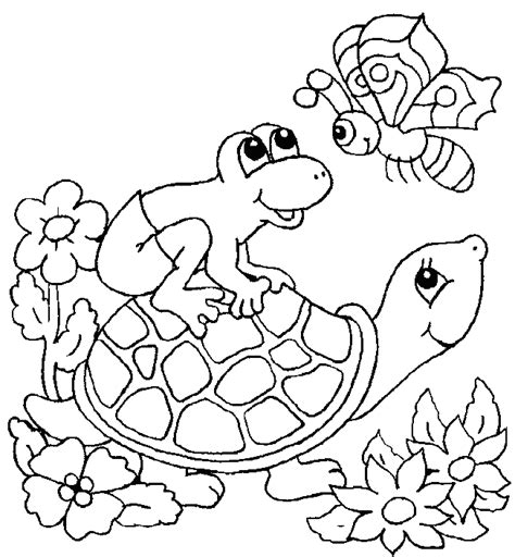 turtle coloring page animals town animal color sheets