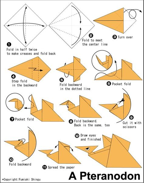 origami pteranodon 17 best images about dinosaurs on dinosaur