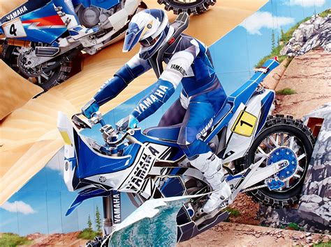 yamaha paper craft get ready for the dakar rally with new yamaha paper crafts