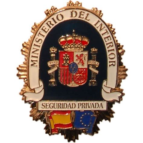 placa metalica ministerio del interior seguridad privada - Ministerio Del Interior Seguridad Privada
