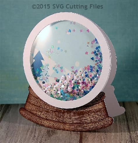 how to make a snow globe card snowglobe shaped card