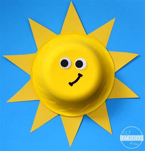 sun craft for paper bowl sun craft