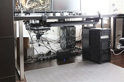 organize wires desk how to organize a tangled mess of cables your desk