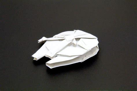 millennium falcon origami comment faire le vaisseau faucon millenium de wars en