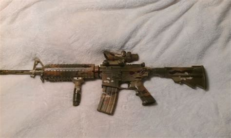 spray painting your ar15 paint your ar 15 multicam