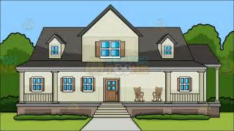house with a porch a house with big front porch background clipart