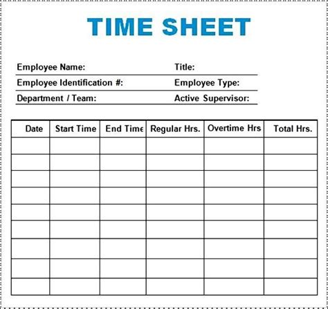 time log template sample download besttemplates123