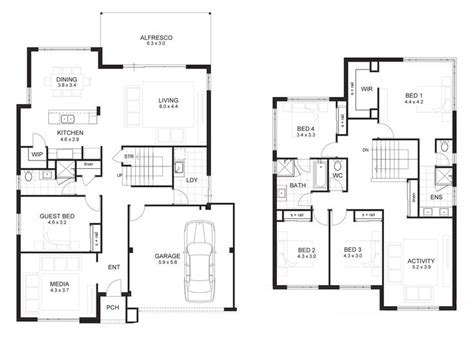 two storey residential building floor plan 25 best ideas about storey house plans on