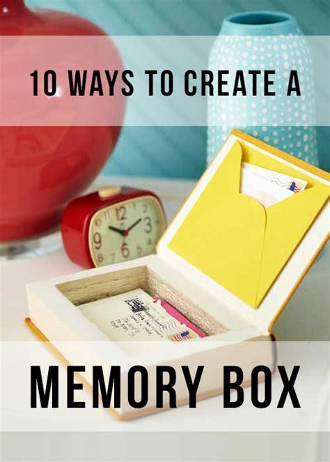 how to make a memory card 10 ways to create a unique keepsake memory box