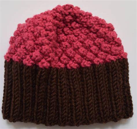 cupcake knitted hat pattern free free knitting pattern cupcake hat underground crafter