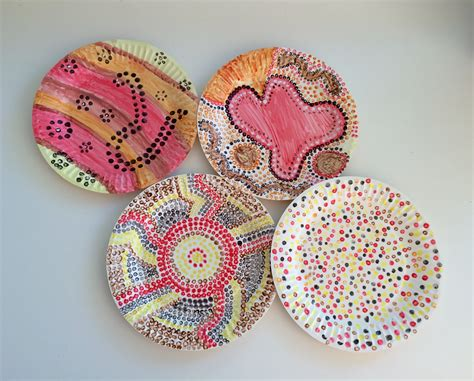 aboriginal crafts for naidoc dot painting paper plate snake school