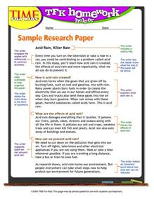 5th grade research paper example