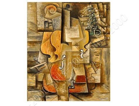 picasso paintings violin synthetic canvas gift violin and grapes pablo picasso