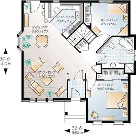 open floor plans for homes plan 21210dr small house plan with open floor plan