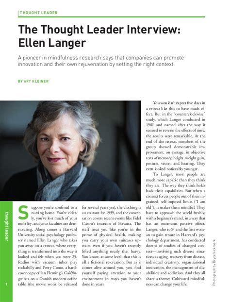 Ellen Langer on the Value of Mindfulness in Business