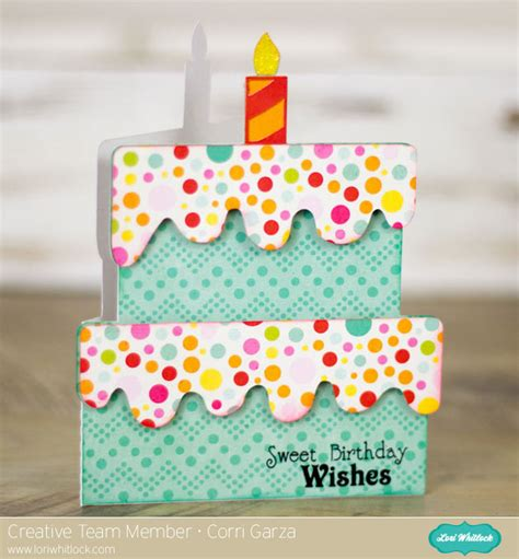 how to make shaped cards birthday card with corri 187 lori whitlock