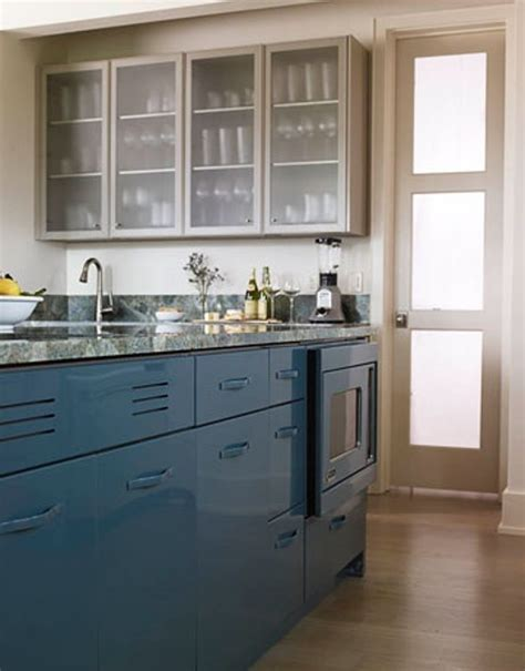 paint colors for metal kitchen cabinets look peacock blue kitchen cabinets the kitchn