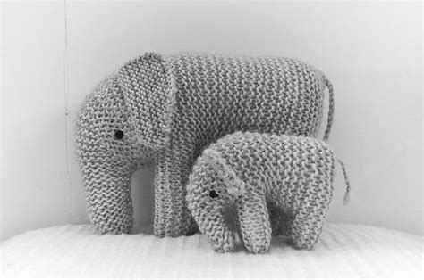 knitted elephant free pattern elephants sons and mothers on