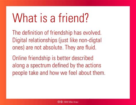 the definition of what is a friend the