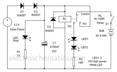 solar light schematic solar powered led l circuit